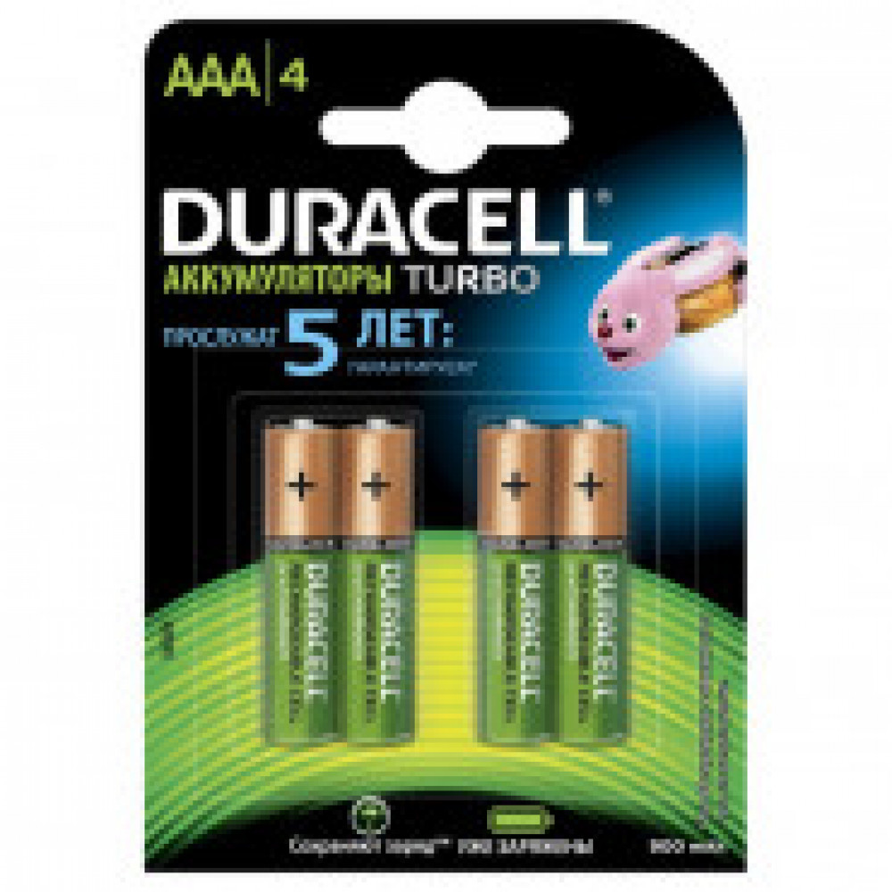 Аккумулятор DURACELL AAA/HR03-4BL 850mAh бл/4 DURACELL HR03/AAA 850
