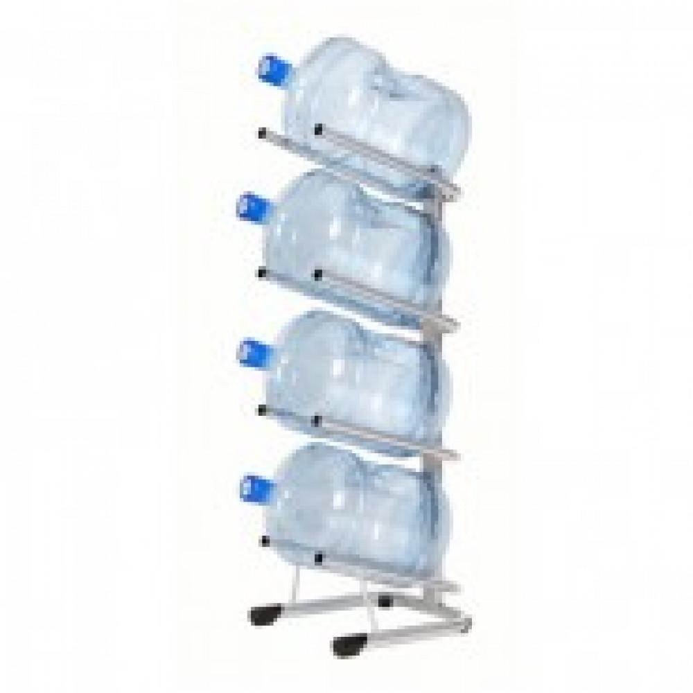 Метал.Мебель KD_Бридж-4 стеллаж для воды бутилир. на 4 тары, цв. серый