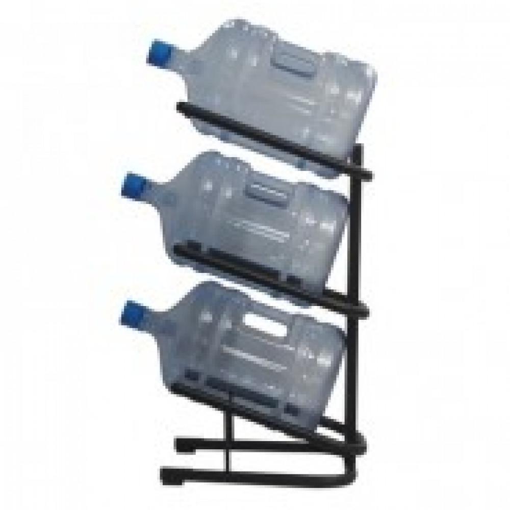Метал.Мебель KD_Бридж-3 стеллаж для воды бутилир. на 3 тары, цв.черный