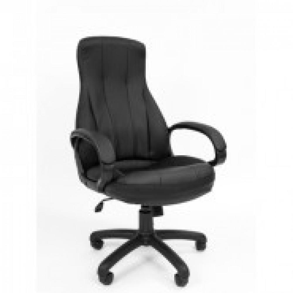 Кресло RC_РК 190 экокожа черная, пластик