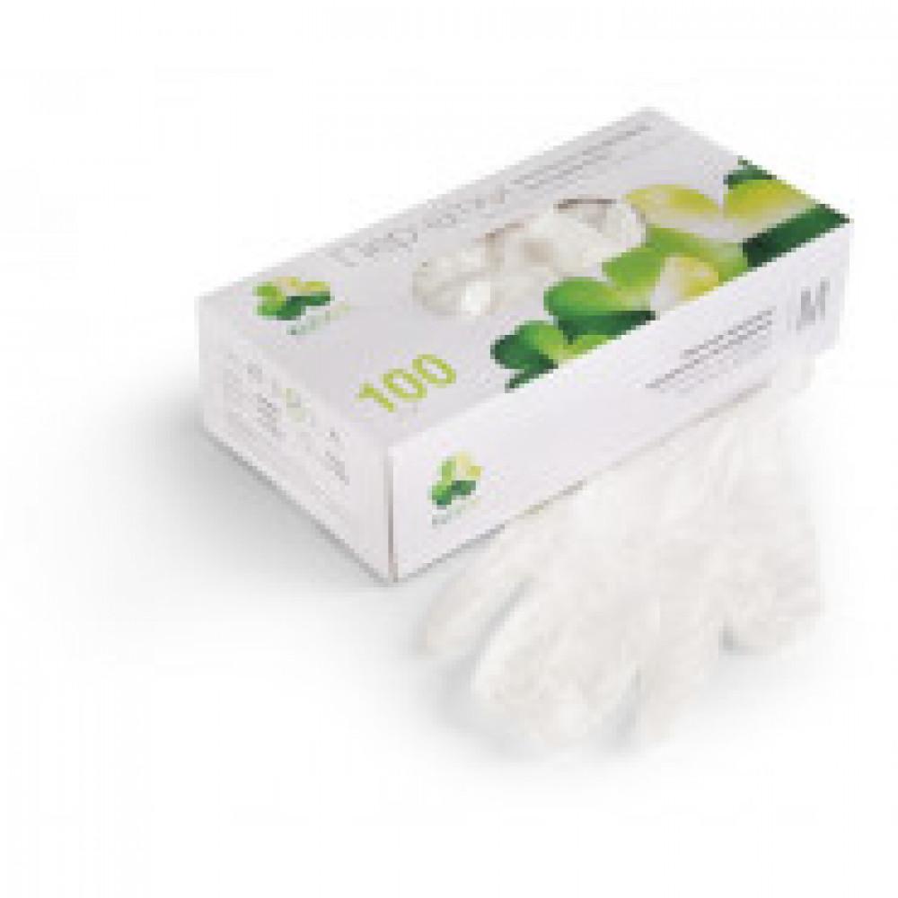 Перчатки медицинские смотровые виниловые неопудренные Klever размер L (100 штук в упаковке)
