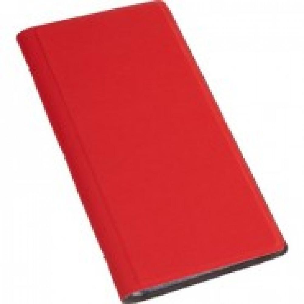 Визитница настольная , 4 кармана, на 128 визиток, PU, красный
