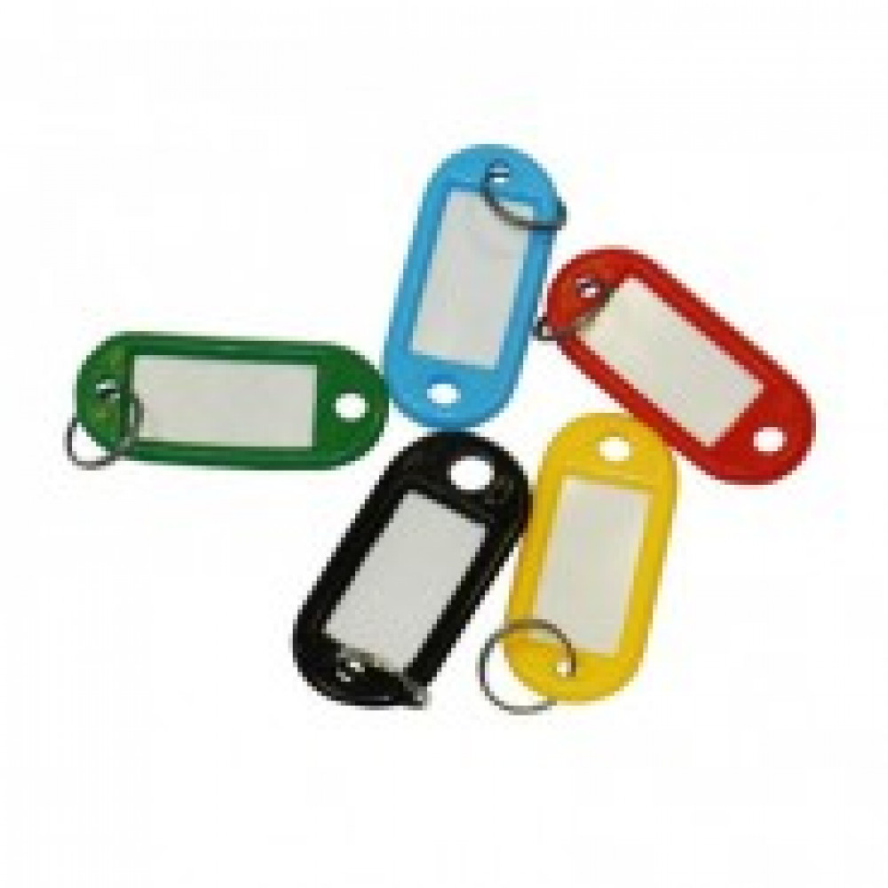 Бирки для ключей 10 шт/уп, ассорти, 5 цветов по 2шт.