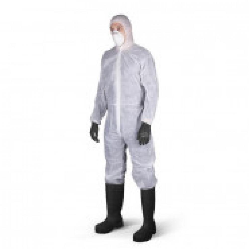 Одноразовая одежда Комбинезон с капюш ZoneGard белый р-р М (EP428)