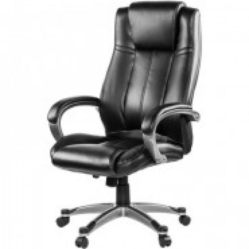 Кресло BN_Dp_Руководителя EChair-604 RT рецикл.кожа черная,