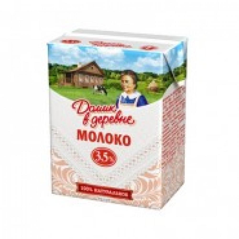 Молоко Домик в деревне ультрапастеризованное 3.5% 200 г (18 штук в упаковке)