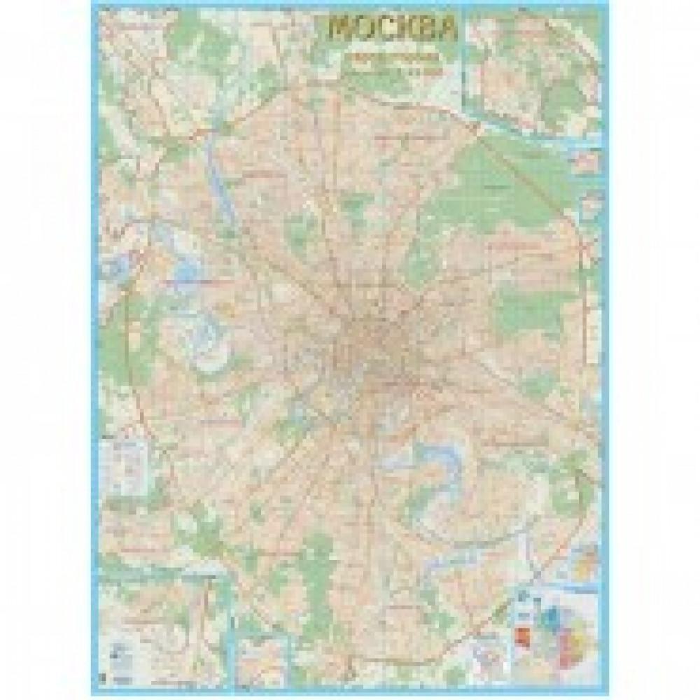 Настенная карта Москвы с каждым домом 1:21 000