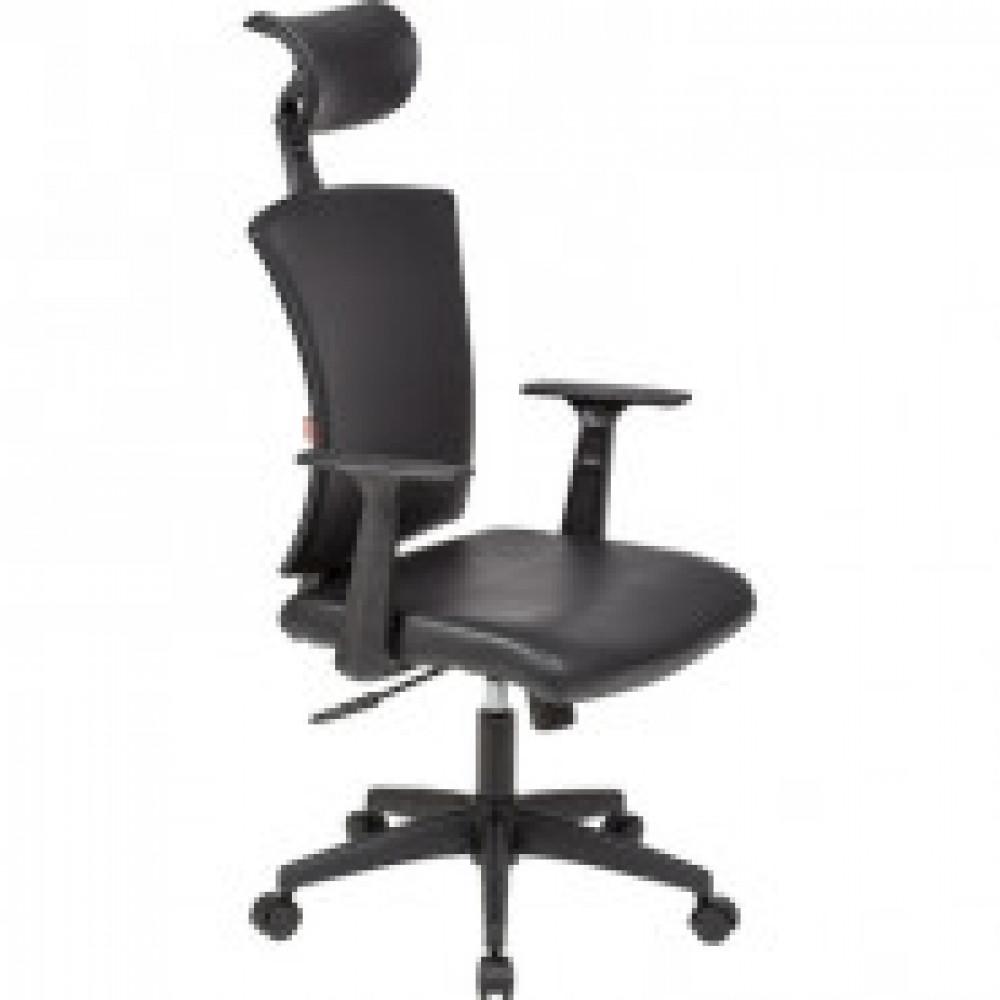 Кресло BN_Cm_EChair-650 TPU кожзам черный, пластик черный