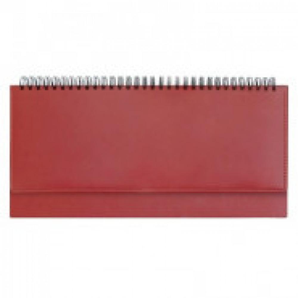 Планинг недат.,красный, 290х150, 128стр,Velvet