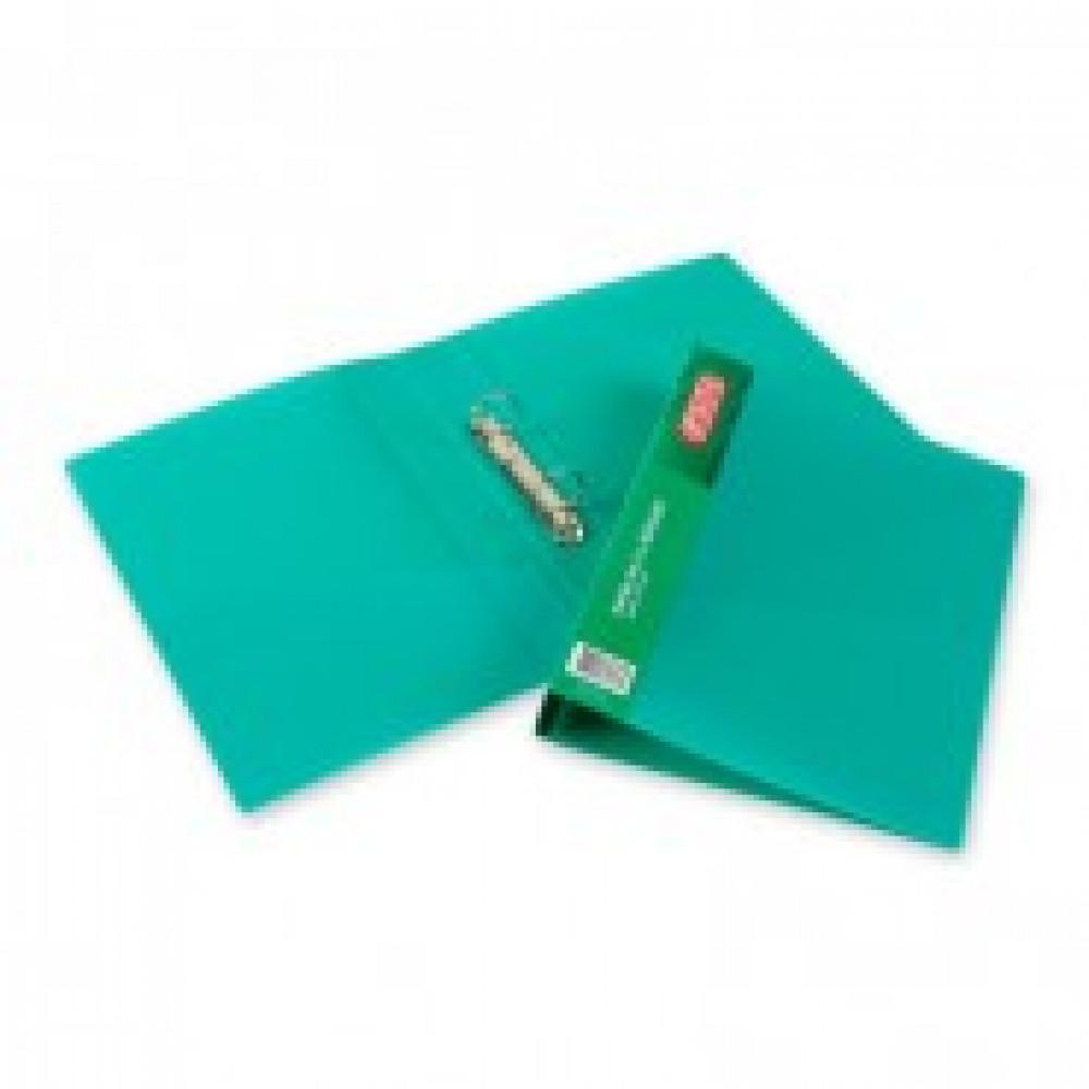Папка на 2-х кольцах Attache 42 зеленая до 250 листов (пластик 0.7 мм)
