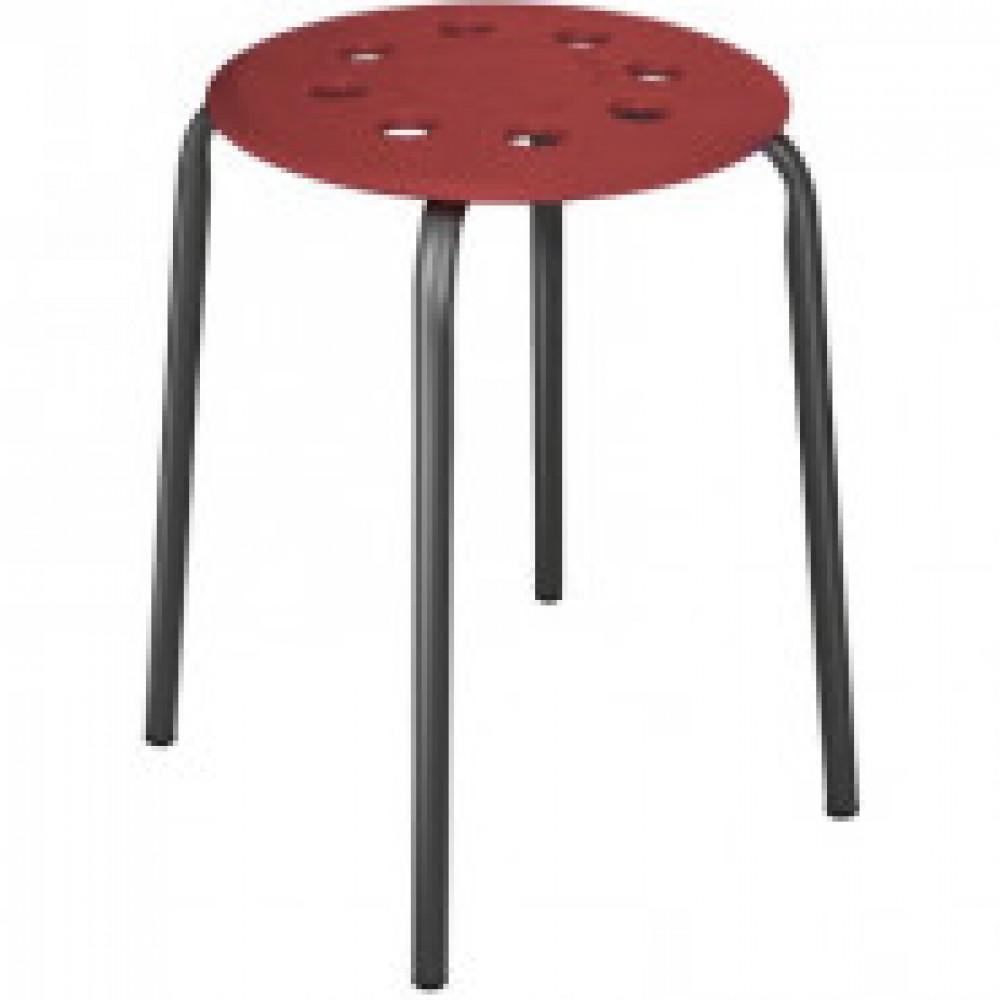 Табурет ET_табурет ТП01 сиденье пластик бордовый, каркас черный