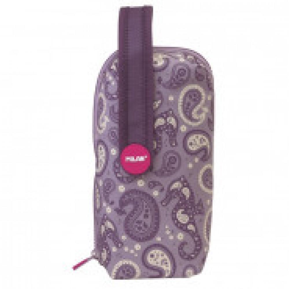 Пенал Drops на ручке с 4-мя пеналами с наполнением, фиолетовый, 08872DP
