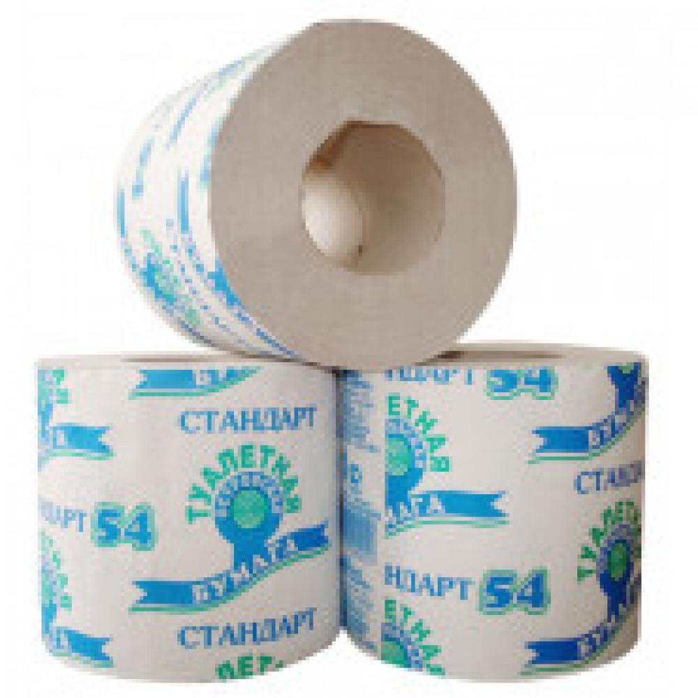 Бумага туалетная 1-сл.ОСТРОВСКАЯ сер 38м,24рул./уп.