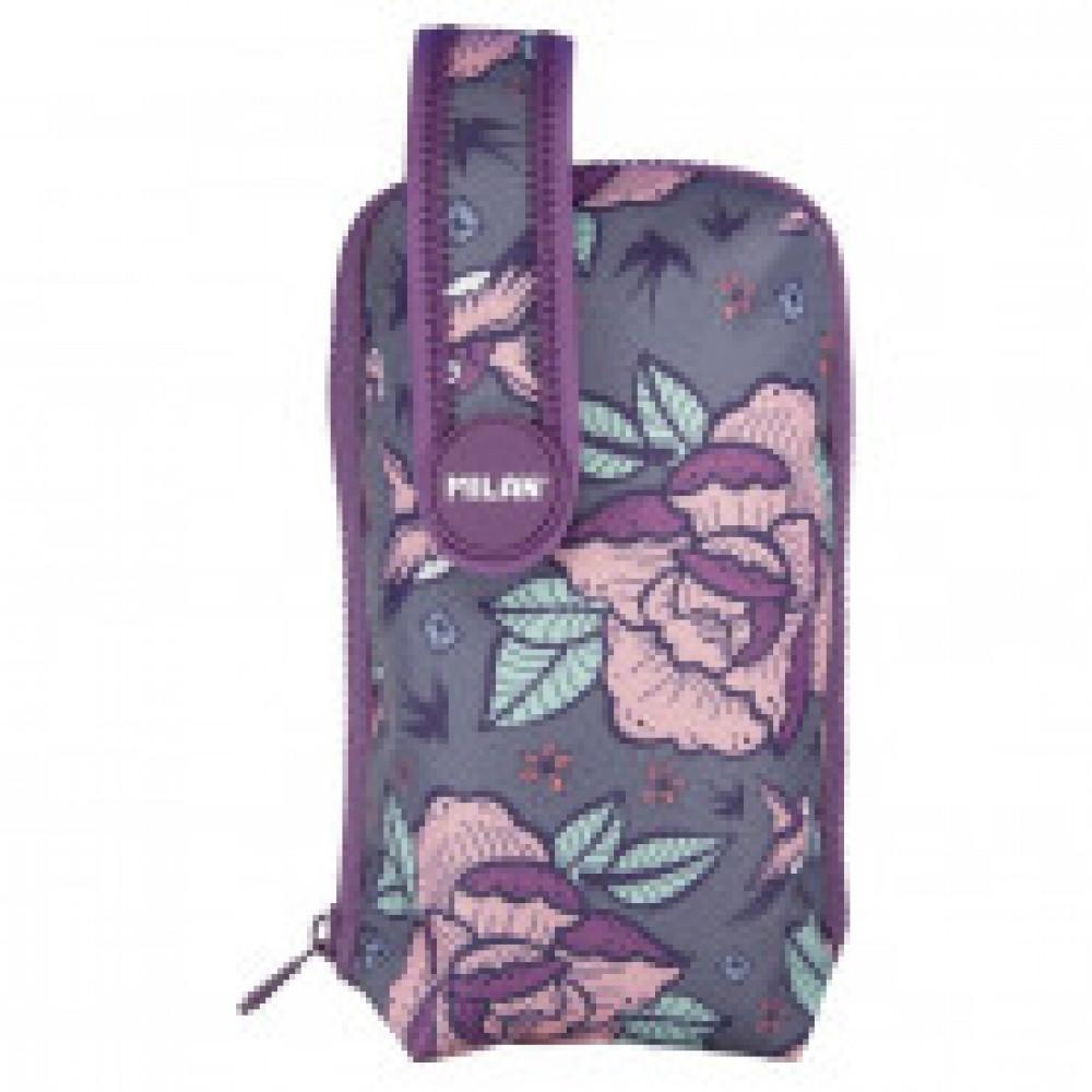 Пенал Flowers Розовый на ручке с 4 пен с наполн 19,4x10x8 см, 08871FWP