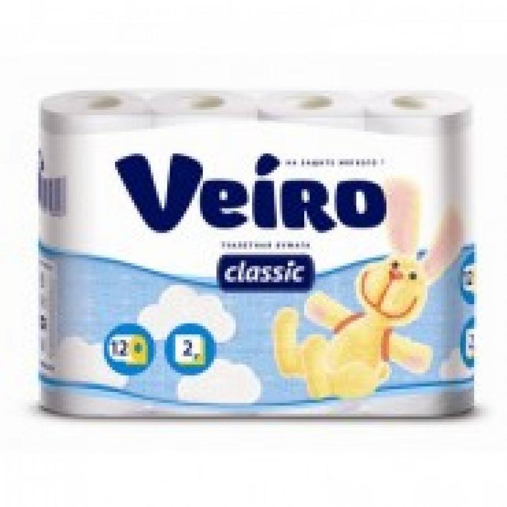 Бумага туалетная Linia Veiro Classic 2сл бел втор 17,5м 140л12рул/уп 5с212
