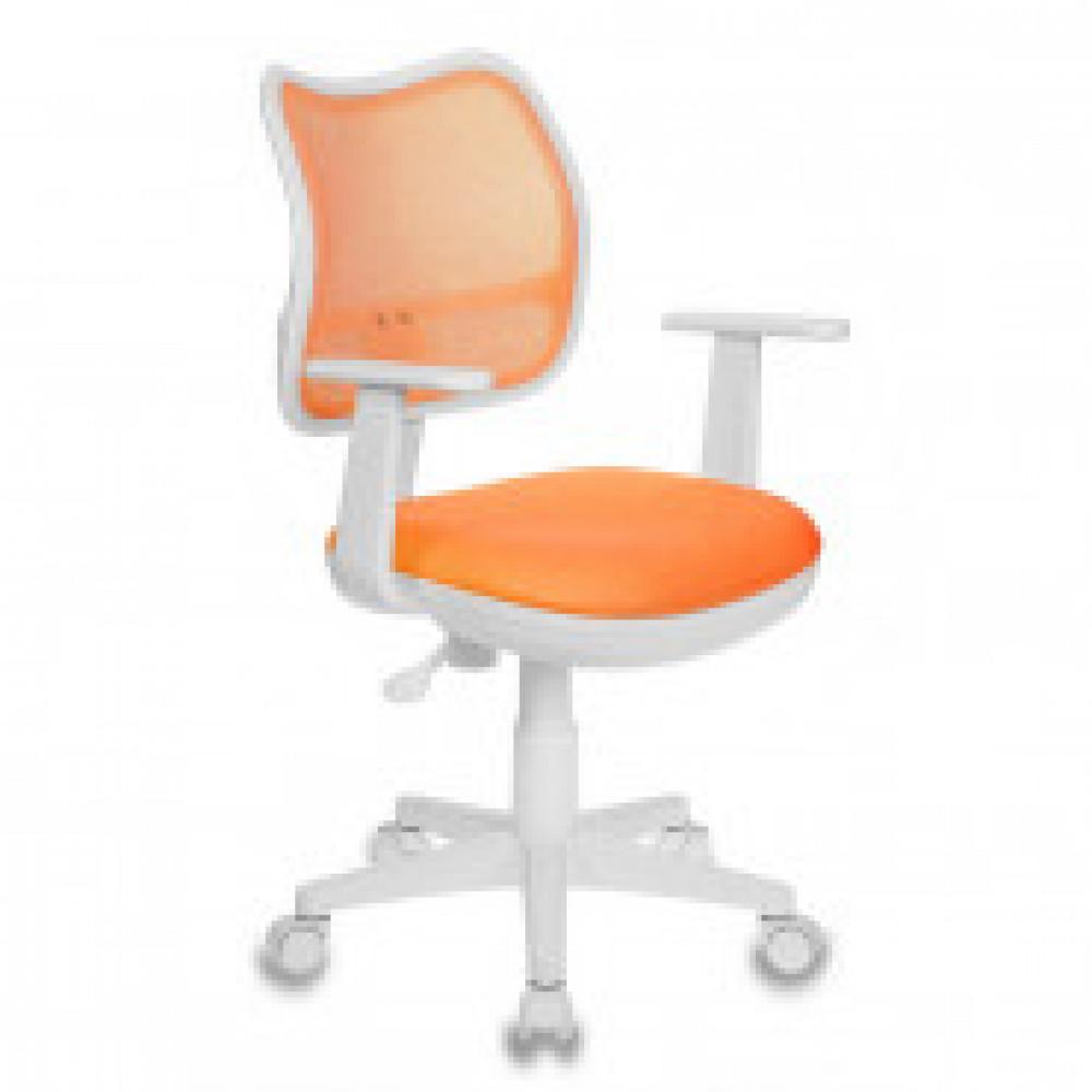 Кресло детское Бюрократ CH-W797 оранжевое (сетка/ткань, пластик)
