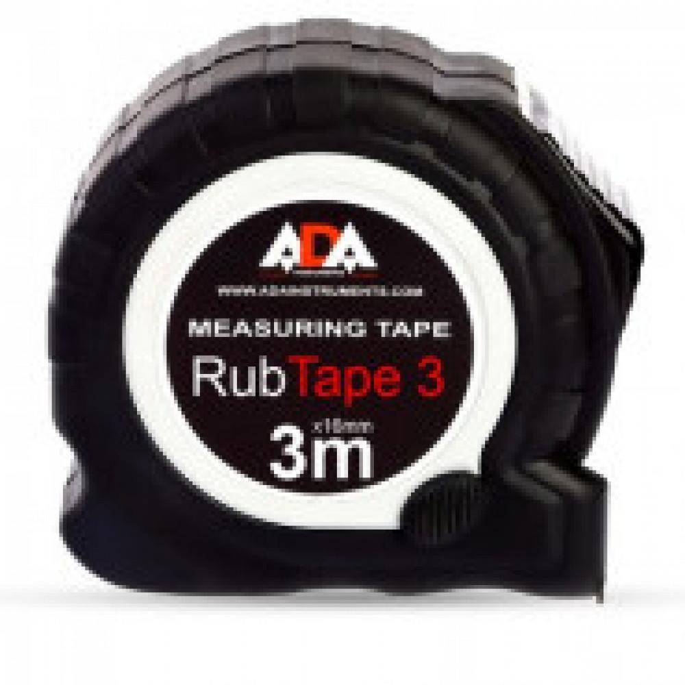 Рулетка ADA RubTape 3 (сталь, с двумя СТОПами, 3 м) (А00155)