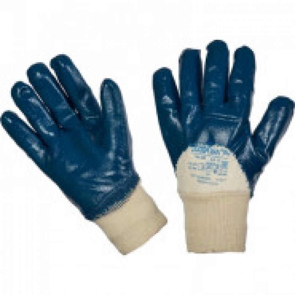 Перчатки защитные DIGGERMAN неполное нитриловое покрытие резинка р.10