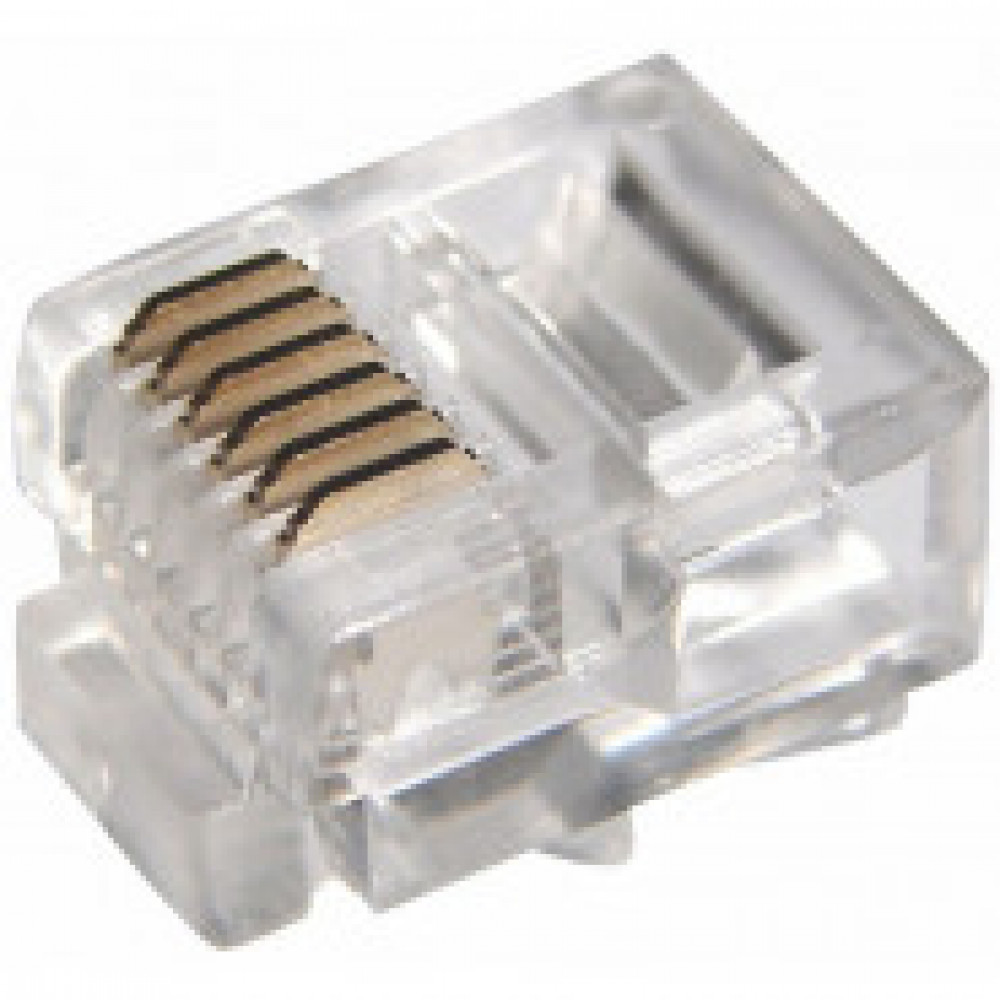 Джек телефонный Rexant 6P6C 100 шт. (05-1013)