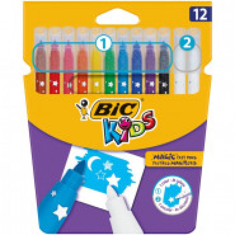 Фломастеры BIC Kids Magic, 12 цв, картонная упаковка, 9202962