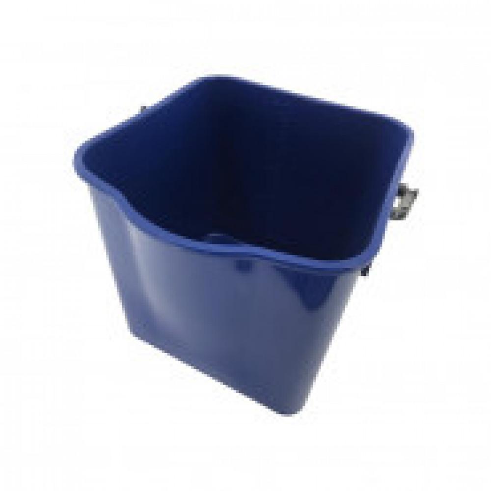 Ведро для тележки прямоугольное пластик синий 25л SK797-B