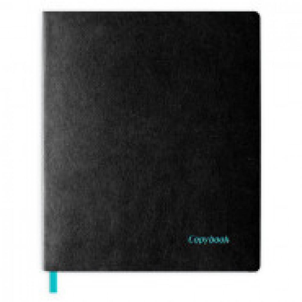 Бизнес-тетрадь 80л,клет,А4+,220x266мм,черная,ляссе,окраш.срез Копибук 45358