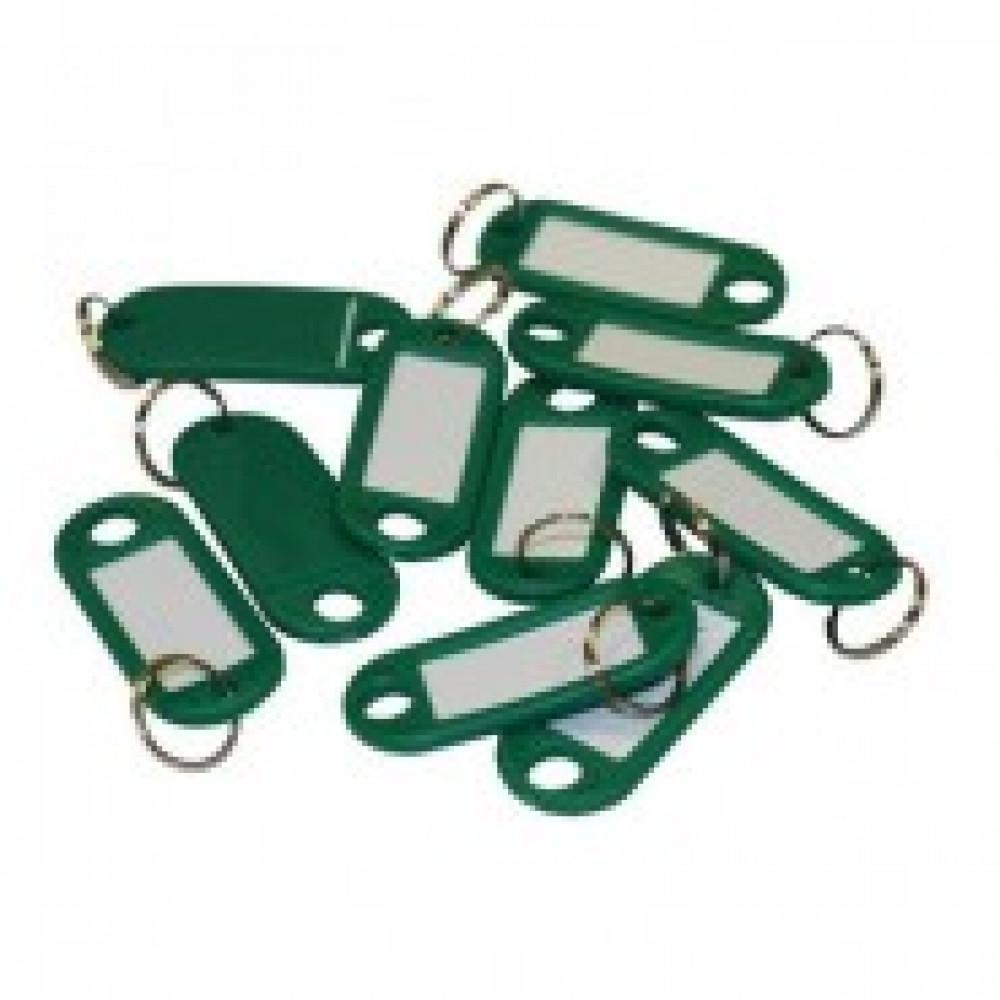 Бирки для ключей 10 шт/уп, зеленая
