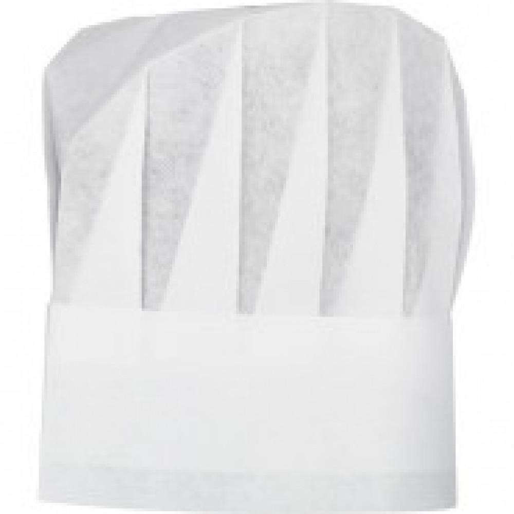 Шапочка-колпак поварской бел 28х23 50г/м2 25шт./уп