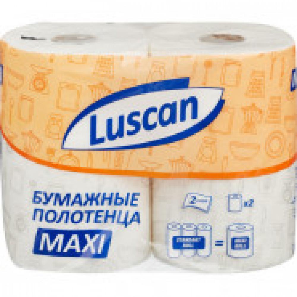 Полотенца бумажные LUSCAN Maxi 2-сл.,с тиснением, 2рул./уп.