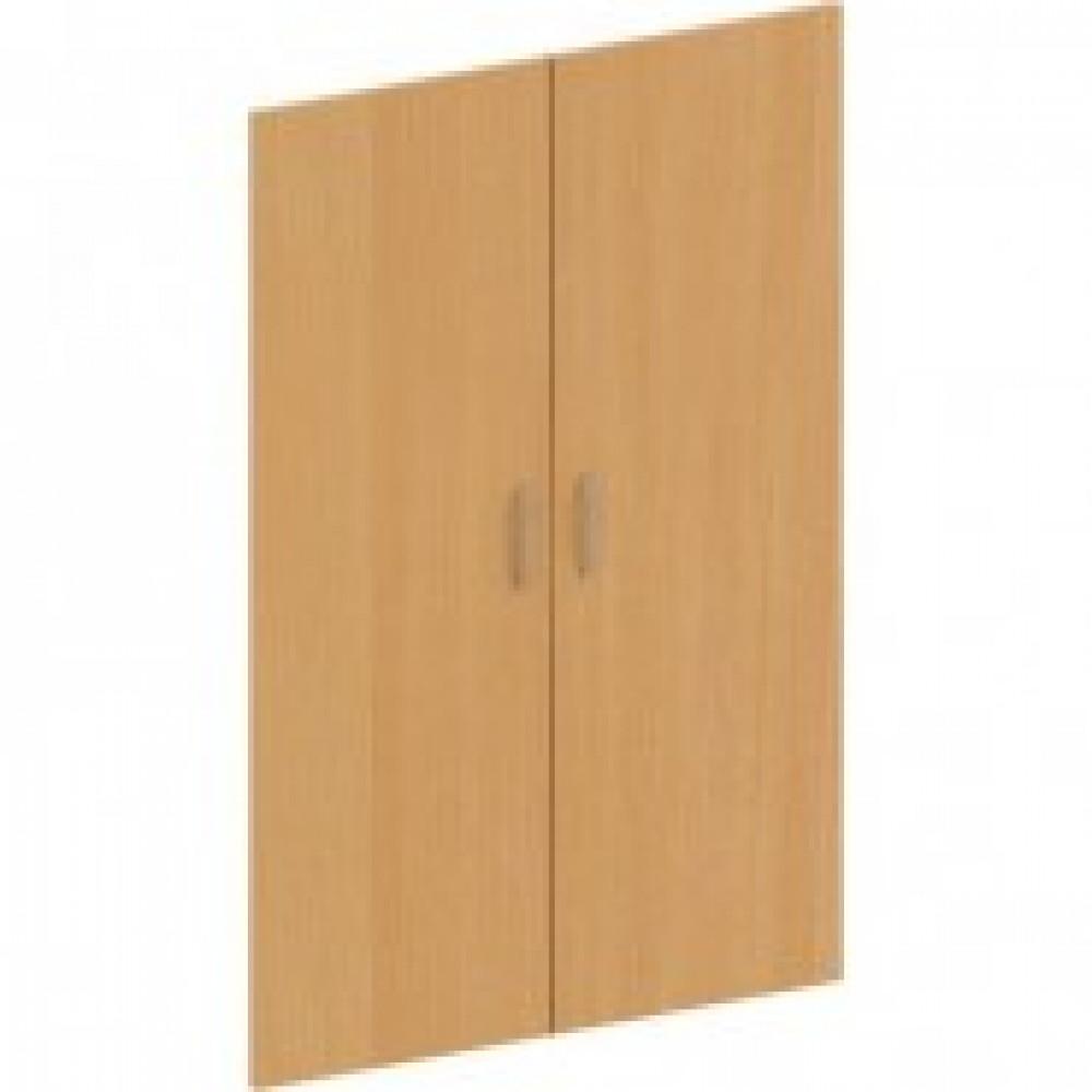 Двери средние Эталон (2 штуки, ЛДСП, высота 1176 мм, бук бавария)