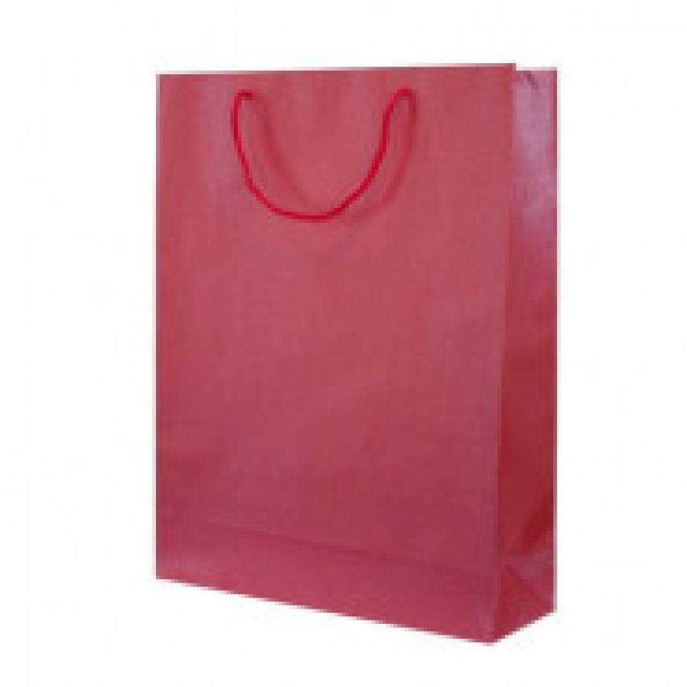Пакет бумажный, 240х350х80мм, красный металлик, дизайнерская бумага