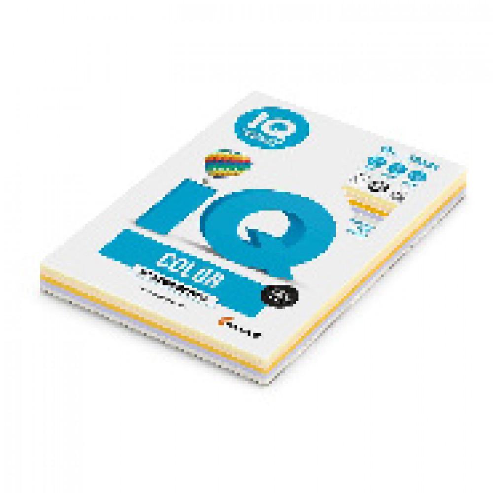 Бумага цветная для печати IQ Color 5 цветов медиум RB03 (А4, 80 г/кв.м, 250 листов)