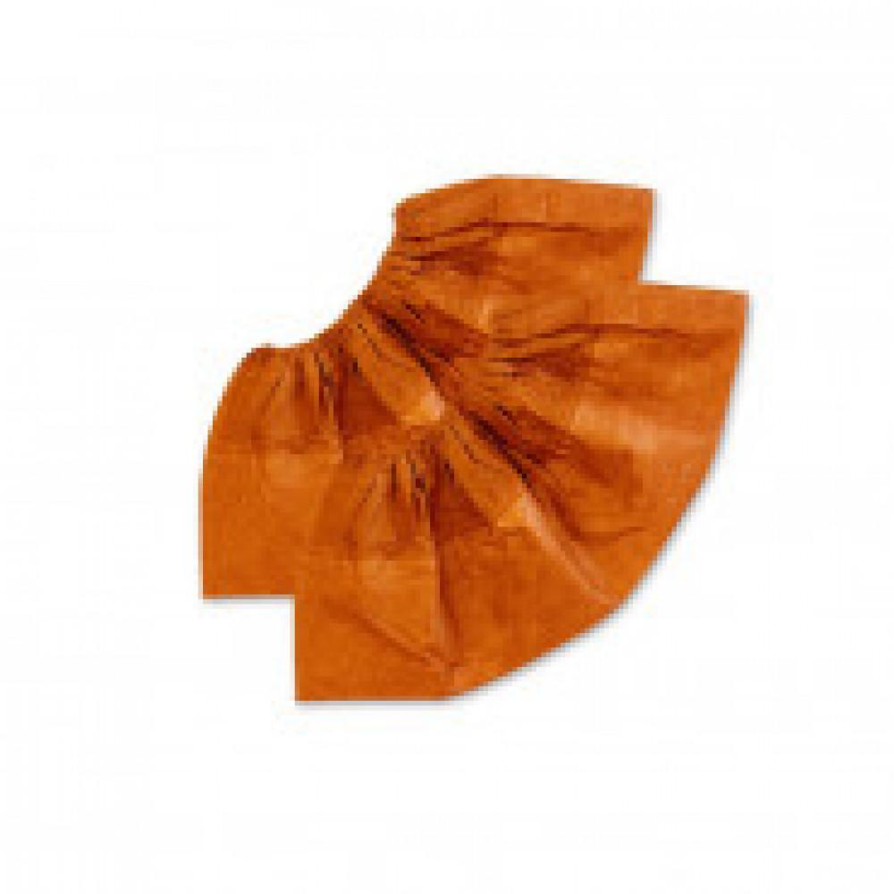 Бахилы ламин. 2-ая резинка бело-оранжевые ЭЛ-ЛАМ-ОР 250пар/уп