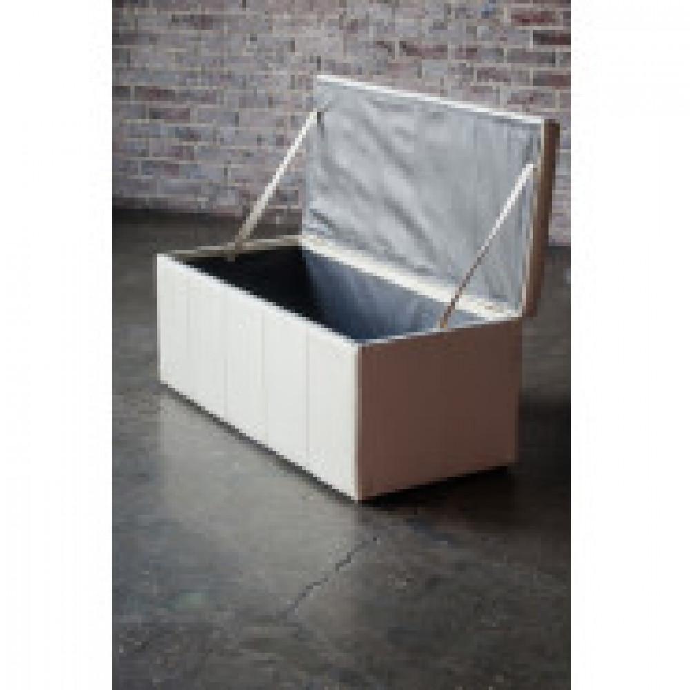 Мягкая мебель ЭТ_Пуф Лонг, к/з бежевый матовый AR 110