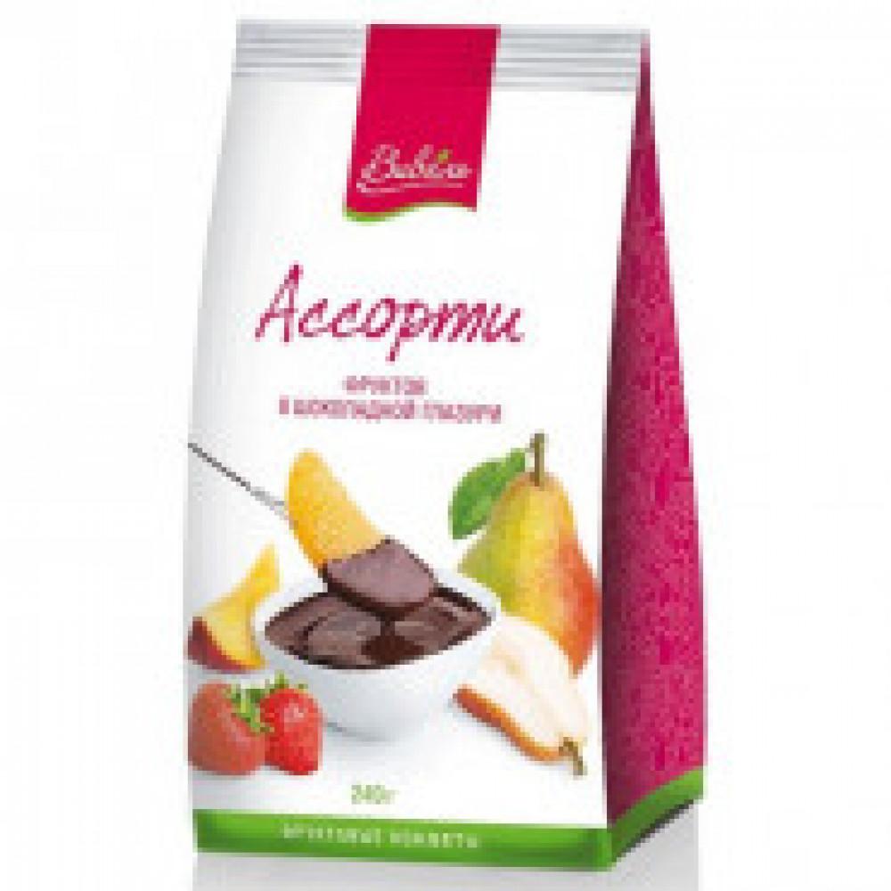 Коктейль Ассорти фруктов в шоколадной глазури Виваль 240 г