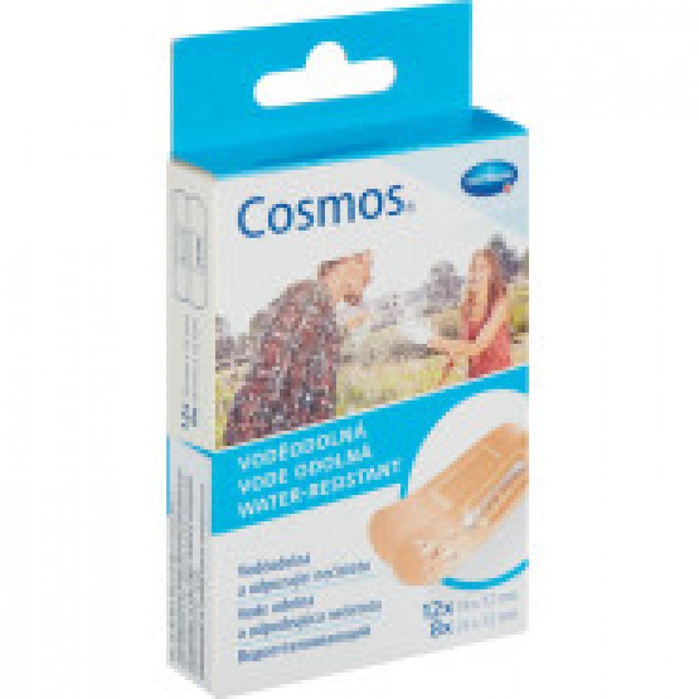 Набор пластырей водоотталкивающие 2 разм., 20 шт/уп. COSMOS