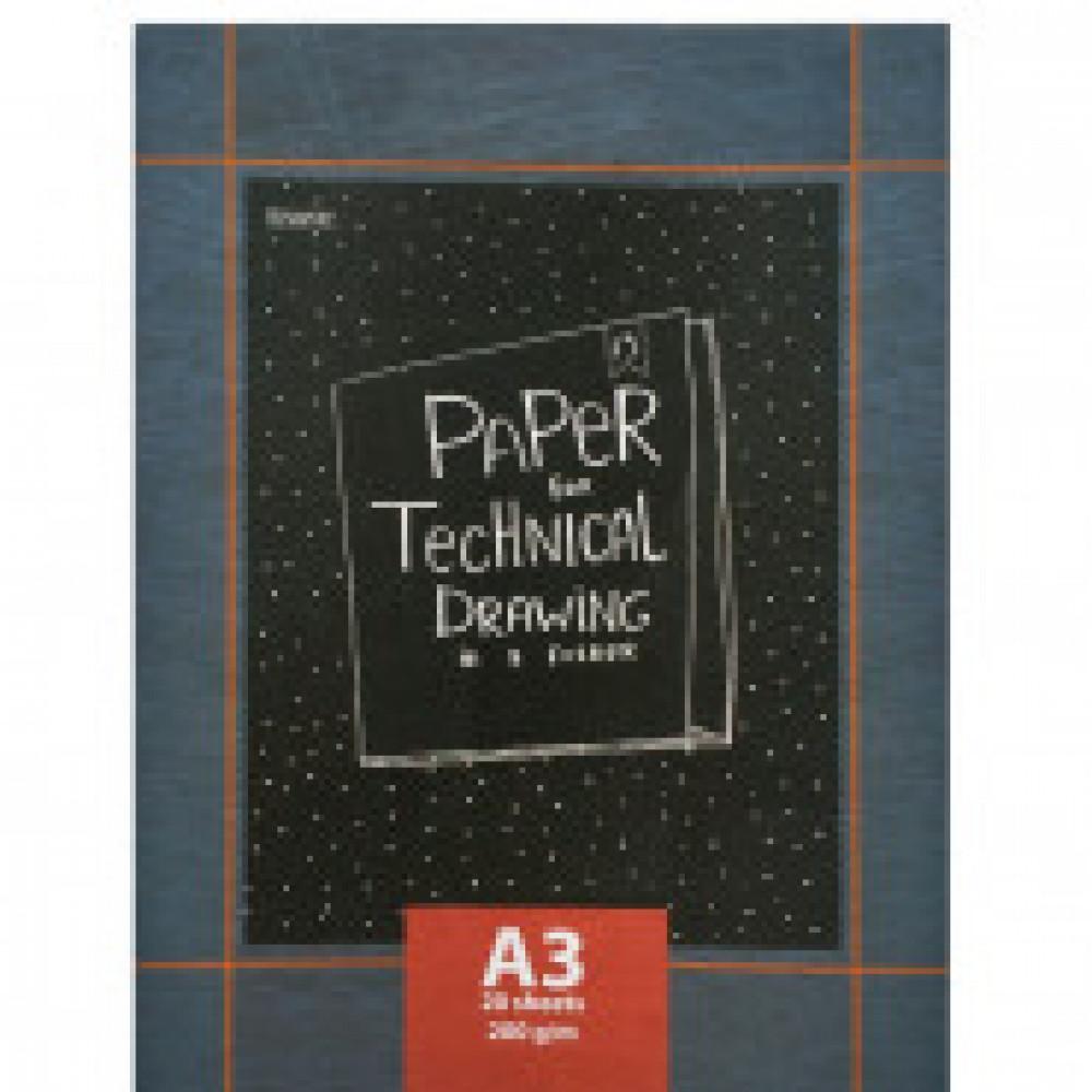 Папка для черчения Kroyter Техническая А3 20 листов