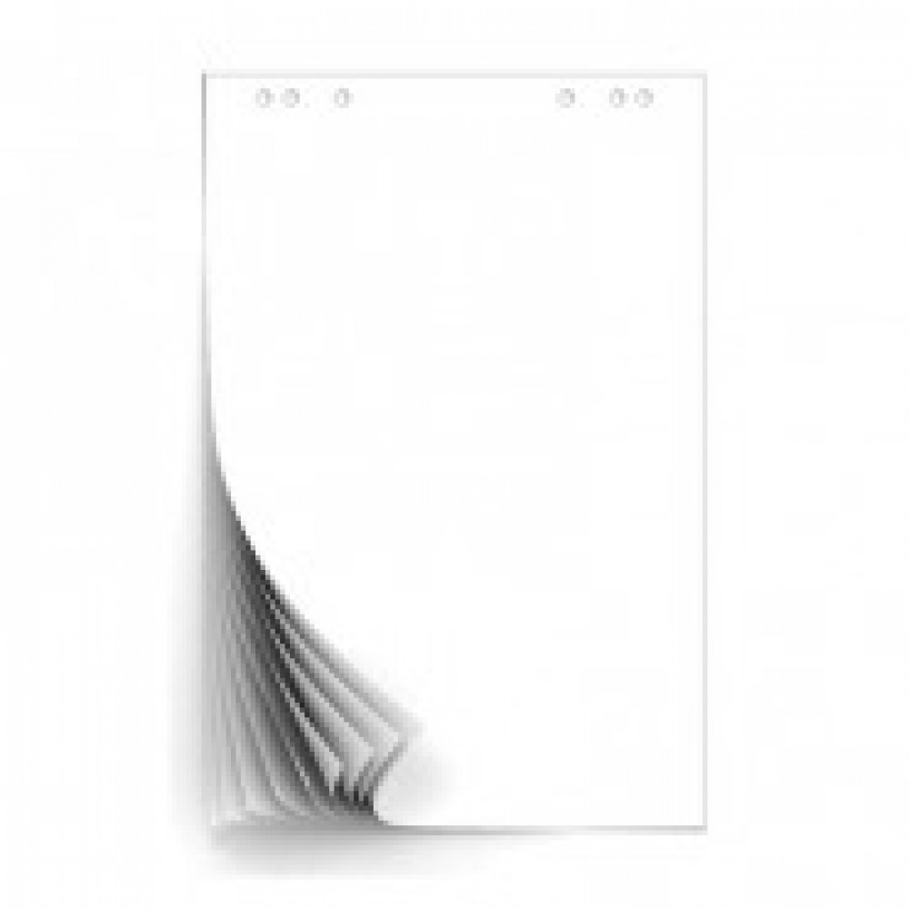Блок бумаги для флипчартов белый 67,5х98 50 лист. 80гр.