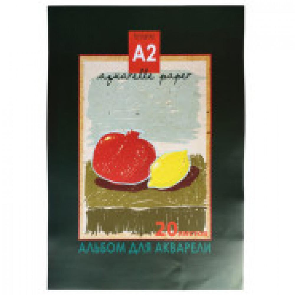 Альбом для акварели 20л А2,склейка, на тверд.подл.,180гр. Натюрморт05183