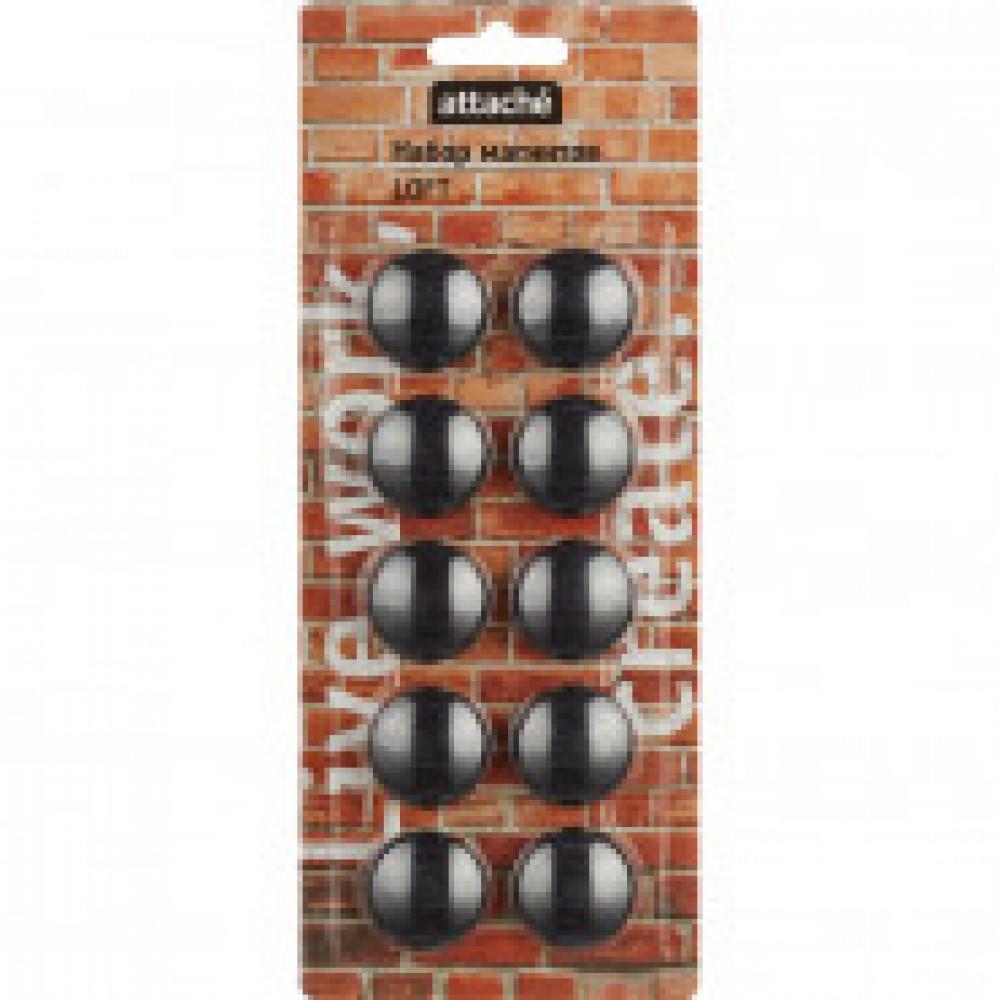 Магнитный держатель для досок Attache LOFT HDF черн.30мм,10шт/уп