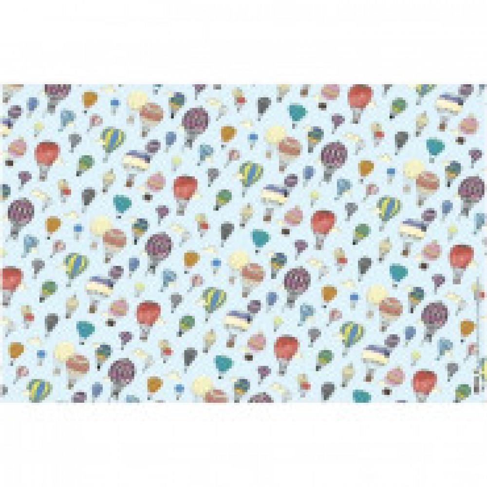 Бумага упаковочная крафт Воздушные шары 601х846 арт.Бумага А1 №1