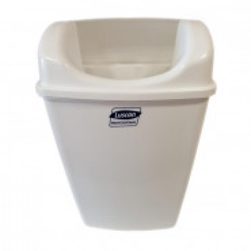 Корзина для мусора Luscan Professional настенная 23л белая 3521W