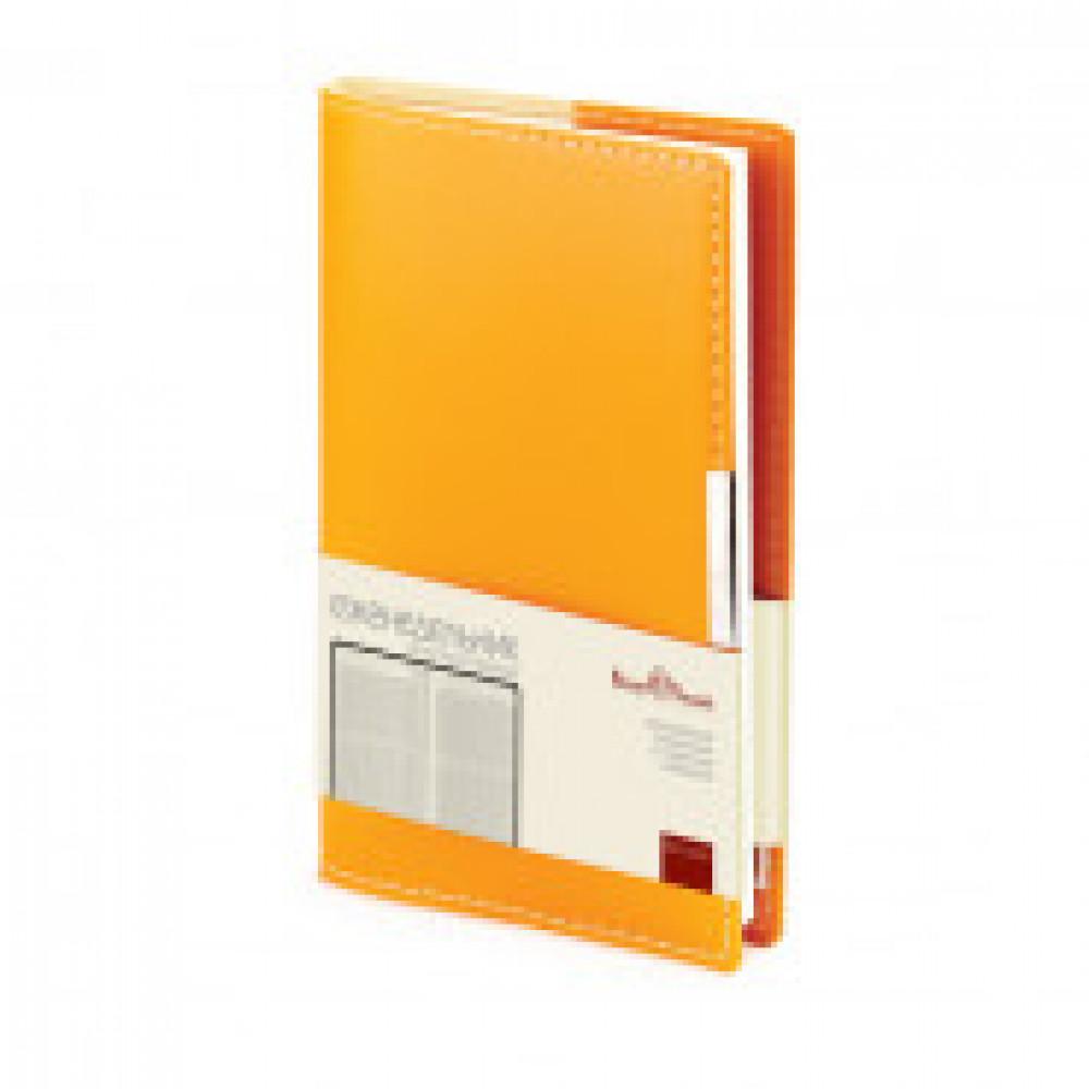 Еженедельник недатированный Bruno Visconti Metropol искусственная кожа А6 80 листов оранжевый (102x177 мм) (артикул производителя 3-492/04)