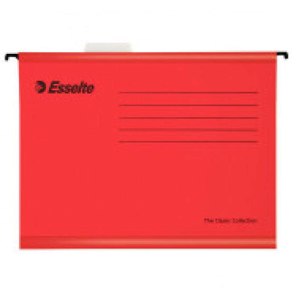 Подвесная регистратура папка Esselte Plus Foolscap, красный 90336 25 шт