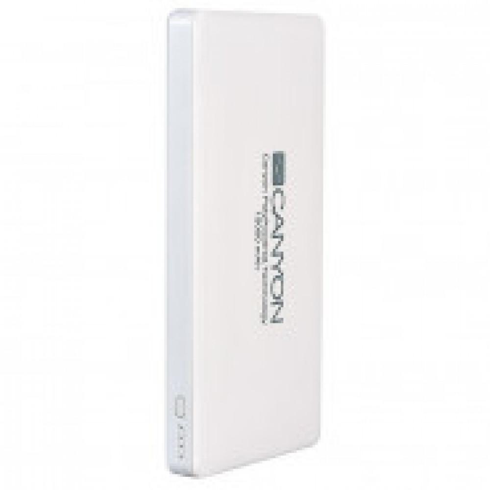 Внешний аккумулятор 15000 mAh, Li-Pol, 2xUSB, Canyon, белый, CNS-TPBP15W