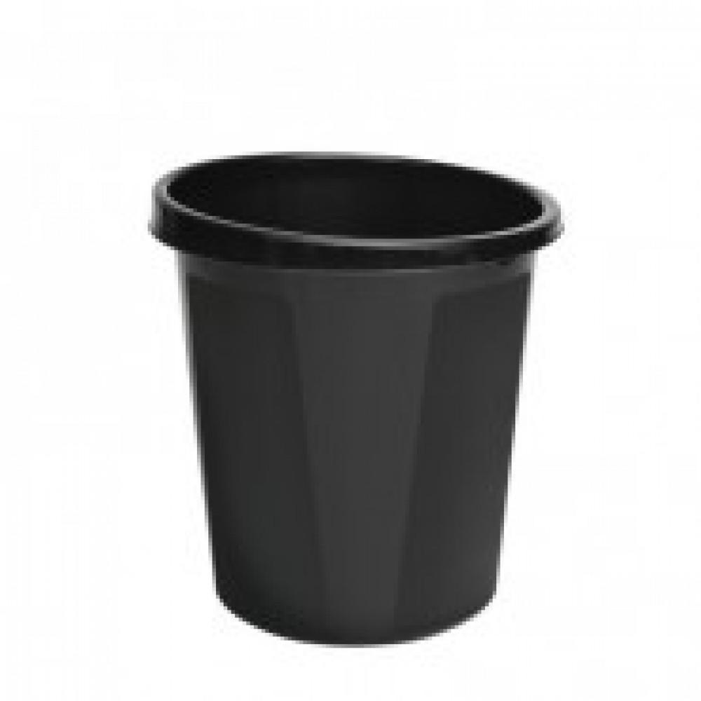 Корзина офисная 9л пластик, черная СТАММ КР60