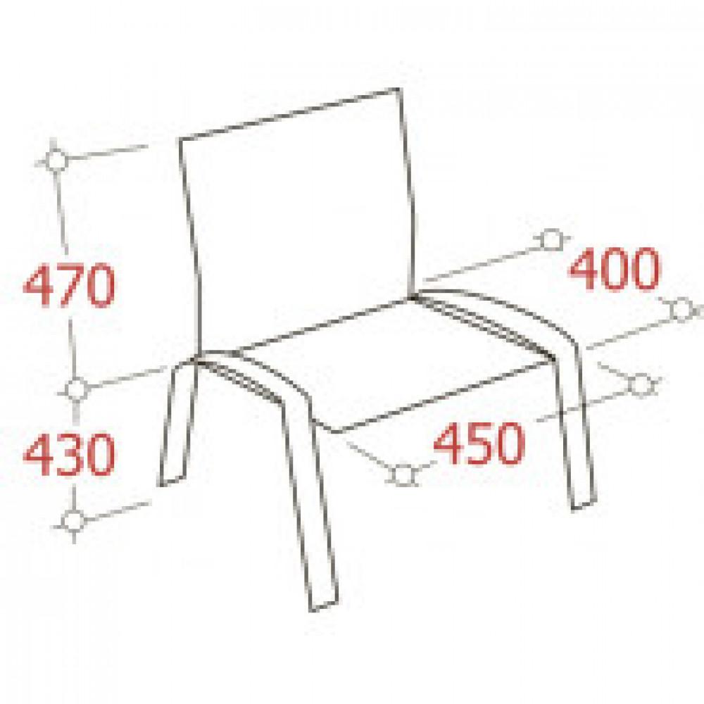 Кресло FA_Конф-ц SAMBA Silv к/з бежевый (песочный) DO743/вишня