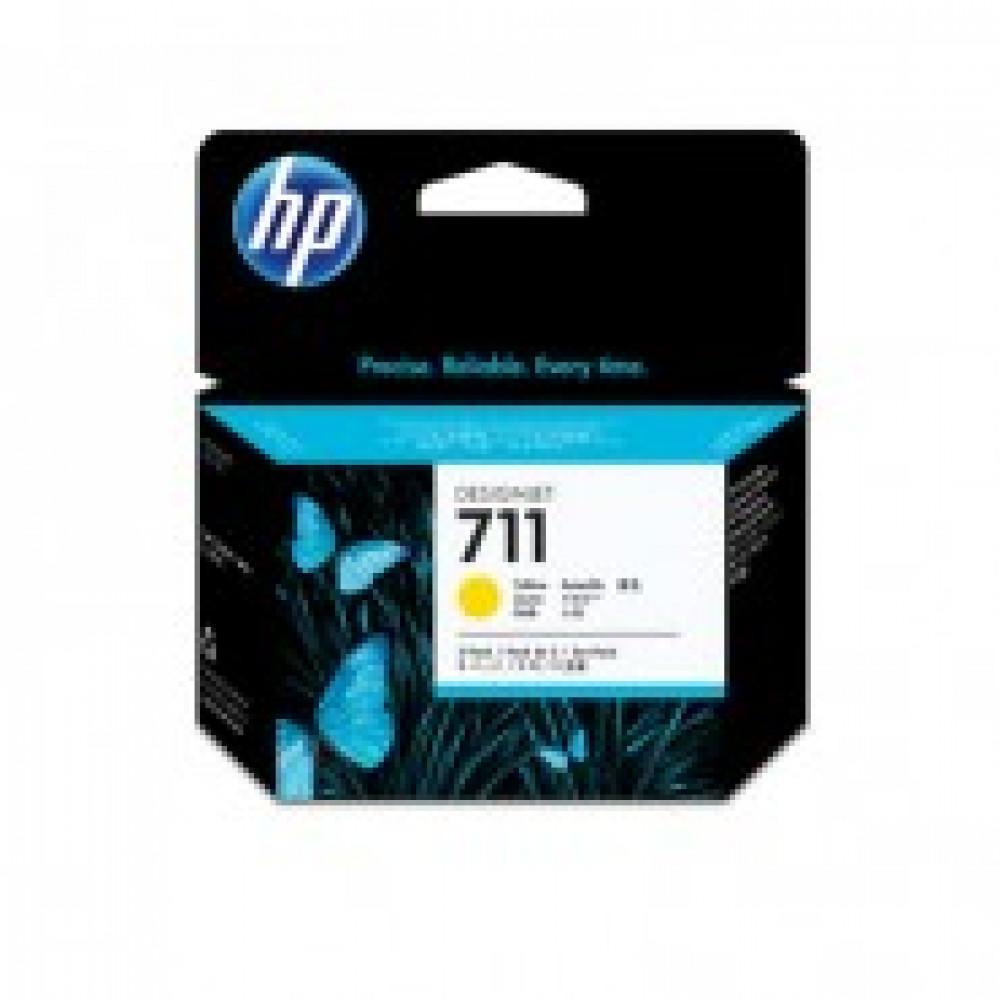 Картридж струйный HP 711 CZ136A жел. для DgnJ T120/520 (3шт/уп)