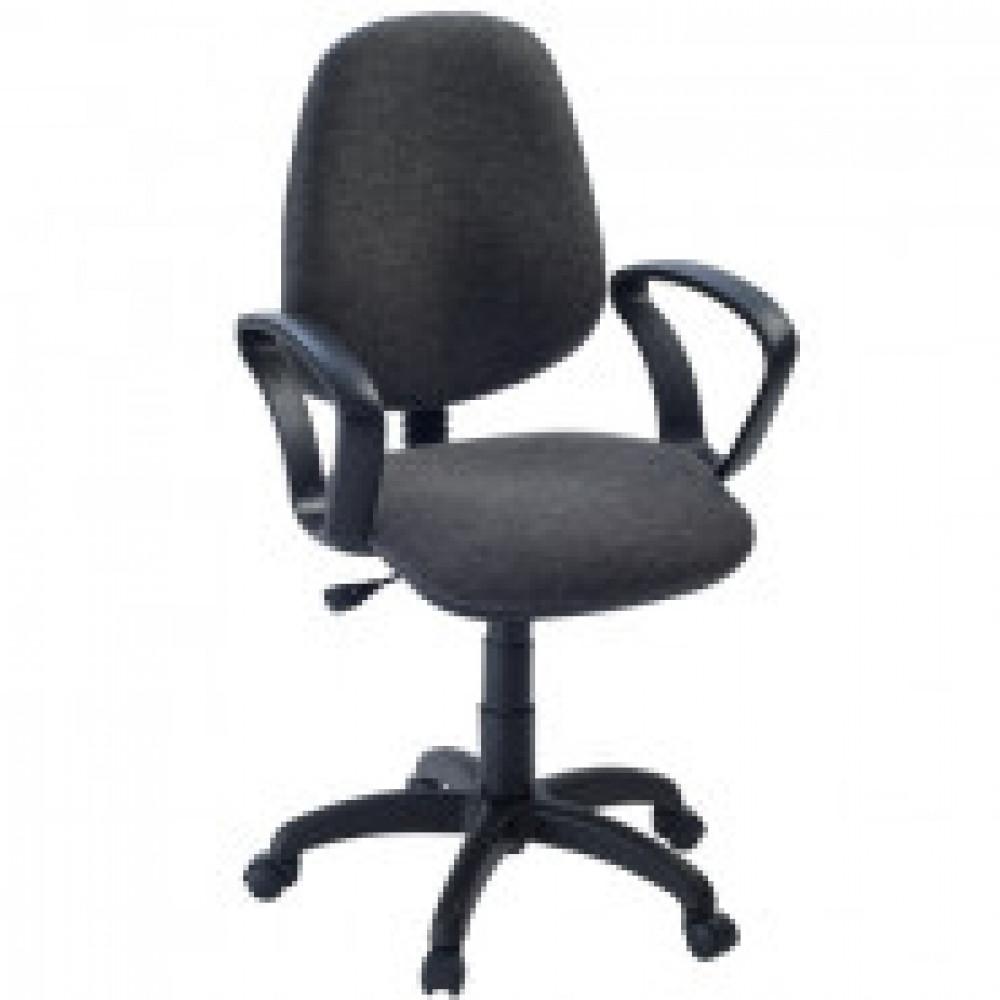 Кресло FA_EChair-322 PC ткань серая ТК3, пластик