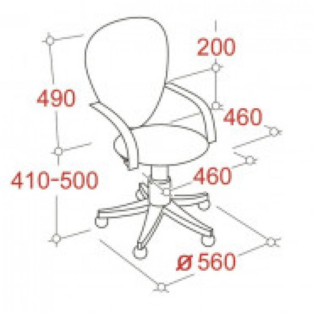 Кресло BN_Cm_EChair-321 PTW черный TW, сетка оранжевая
